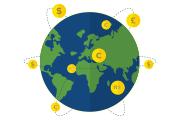 currency exchange | conversão de moedas | cambio de divisas